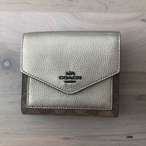 Coach Metallic Bifold Wallet